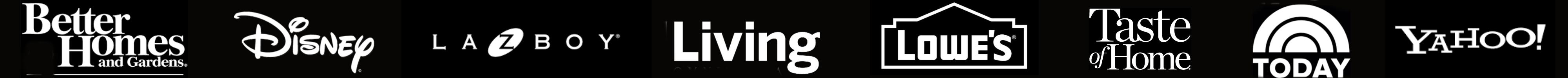 popular company logos on black background