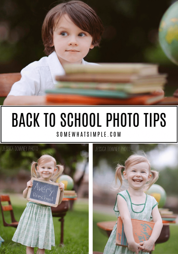 a collage of back to school photo tips