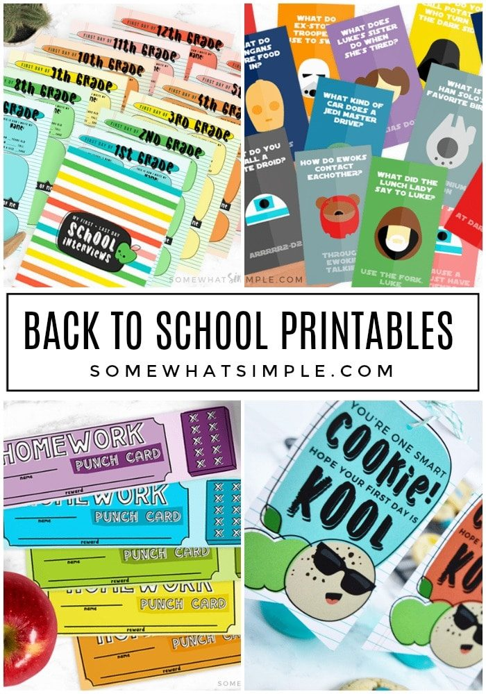 Best Back to School Printables