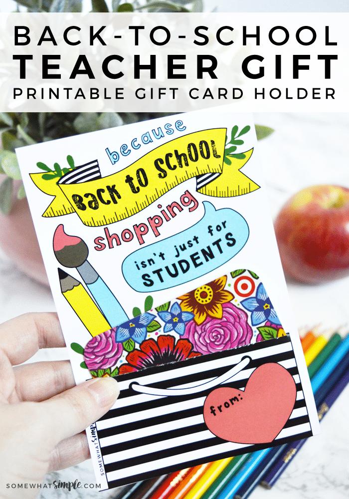 teacher gift card printable