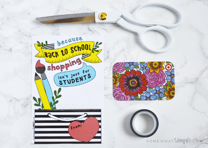 dress up a gift card for your teacher with our free printable