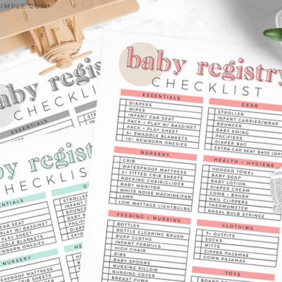 Baby Registry Checklist || Free Printable