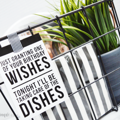 DIY Birthday Gift – A Night Off From Dishes!