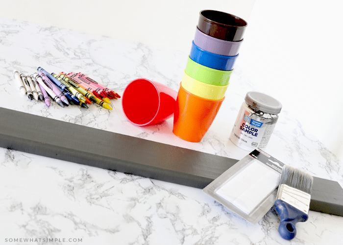 supplies needed to make a crayon holder