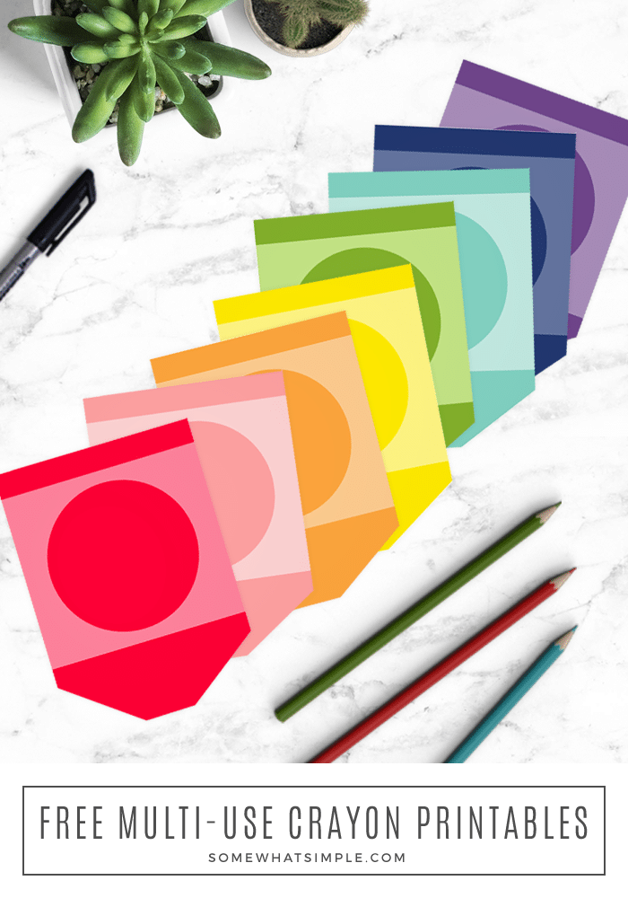 a close up of the different crayon printables that are included in this free download
