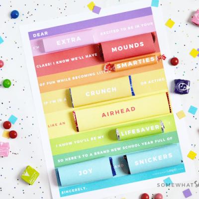 teacher candy gram gift idea