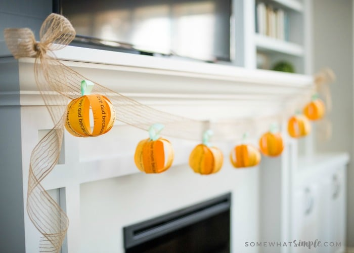 "DIY Fall Decorations - ""I Love You"" Fall Garland"