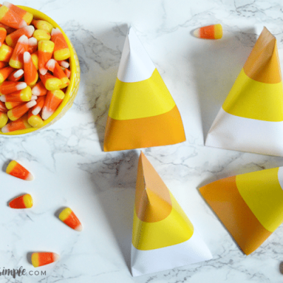 Candy Corn Printable Candy Pouch
