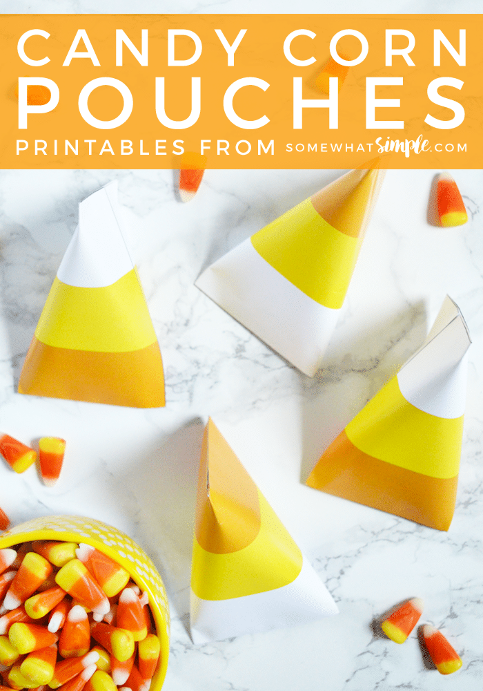 Candy Corn Pouch Printables