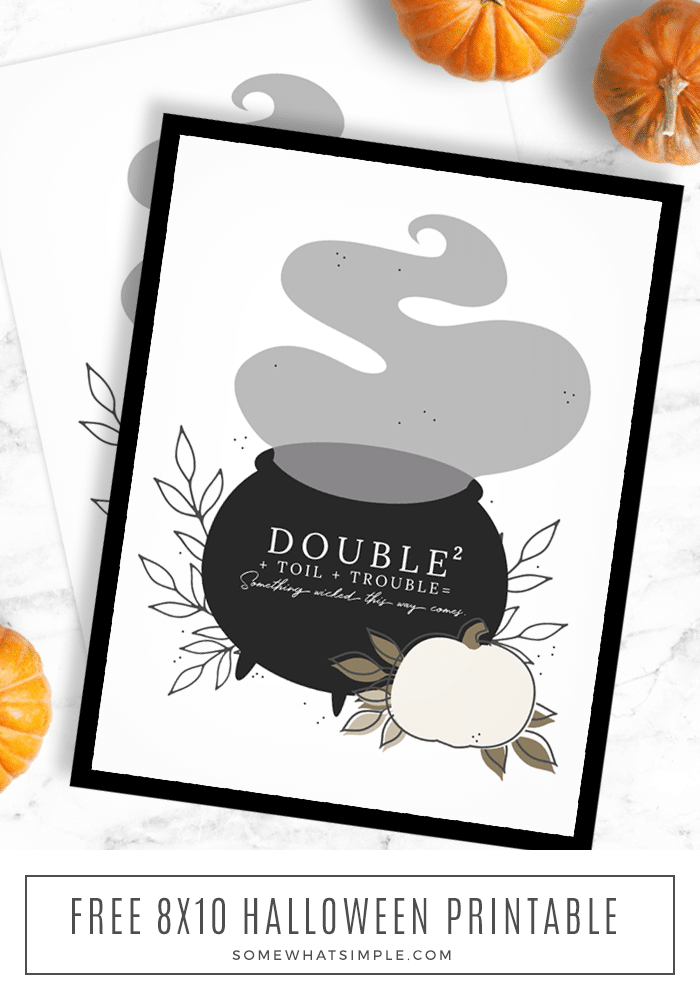 a close up of this framed halloween free printable