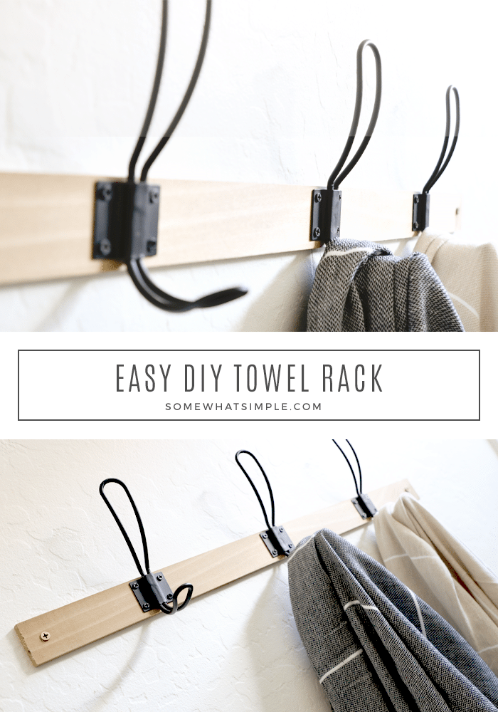 Make a towel rack in 30 minutes or less