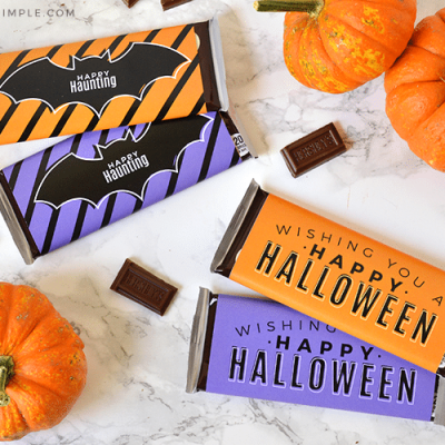 printable candy bar wrappers for halloween