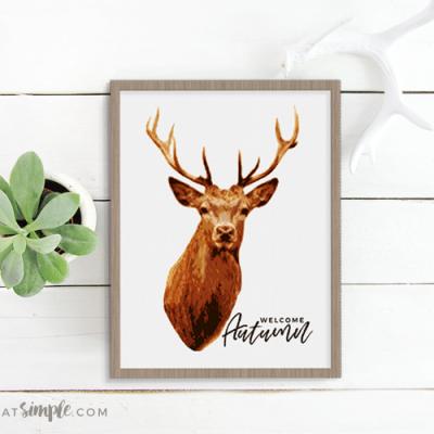 Deer Print Free Printable