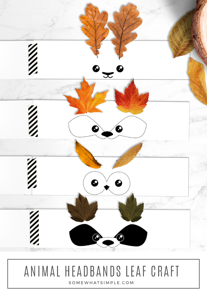 a fun leaf craft for kids - making animal headbands