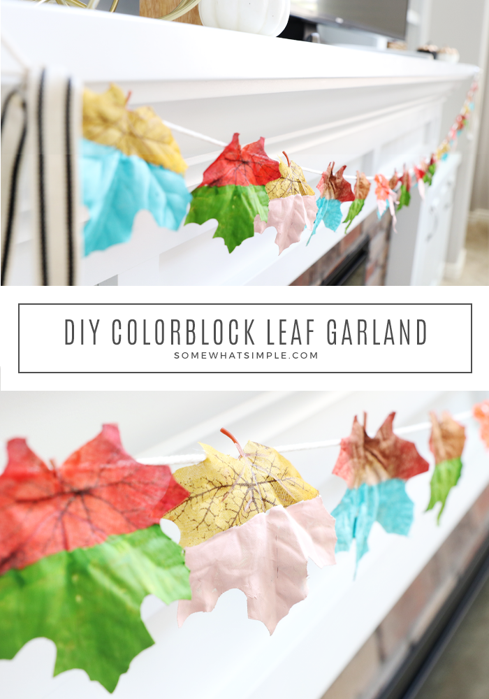 How to make a painted leaf banner
