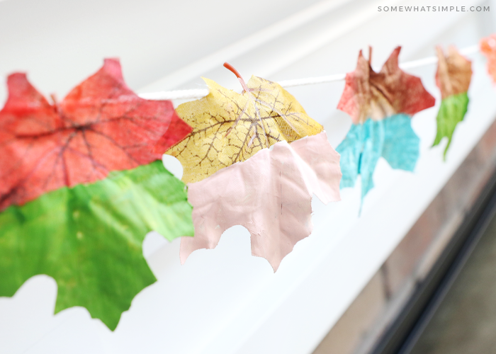 painting leaves for fall