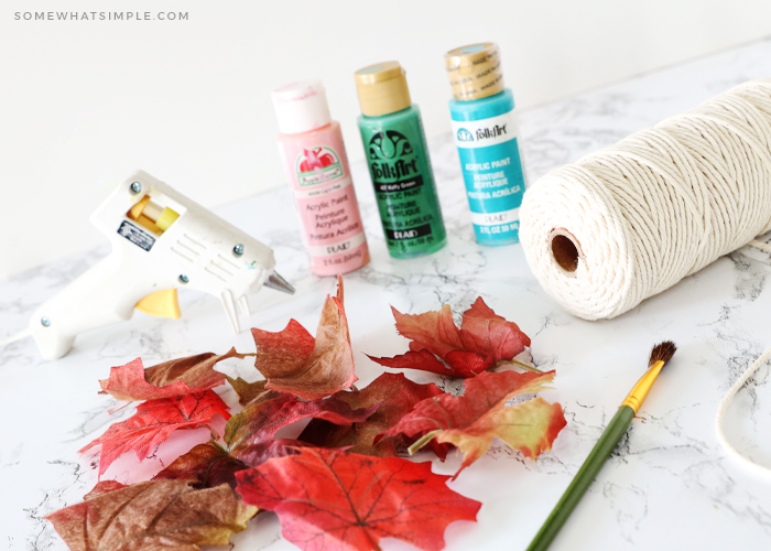 supplies need to make your own painted leaves