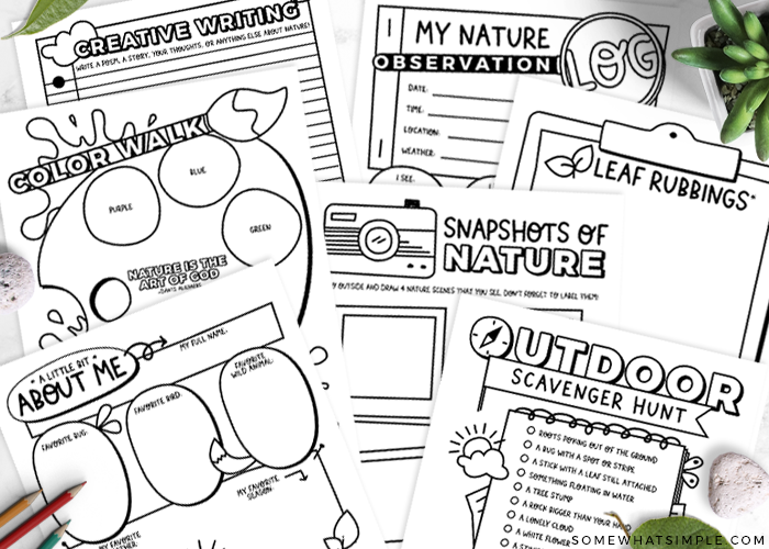 nature walk booklet with fun activities for kids