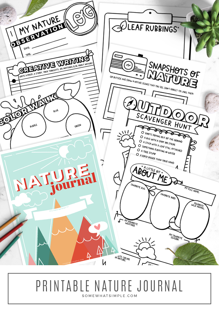 make your own scavenger hunt printable book for some fun outdoors