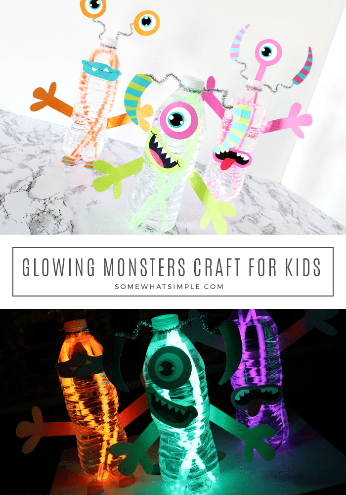 how to make a glowing monsters with water bottles and glowsticks
