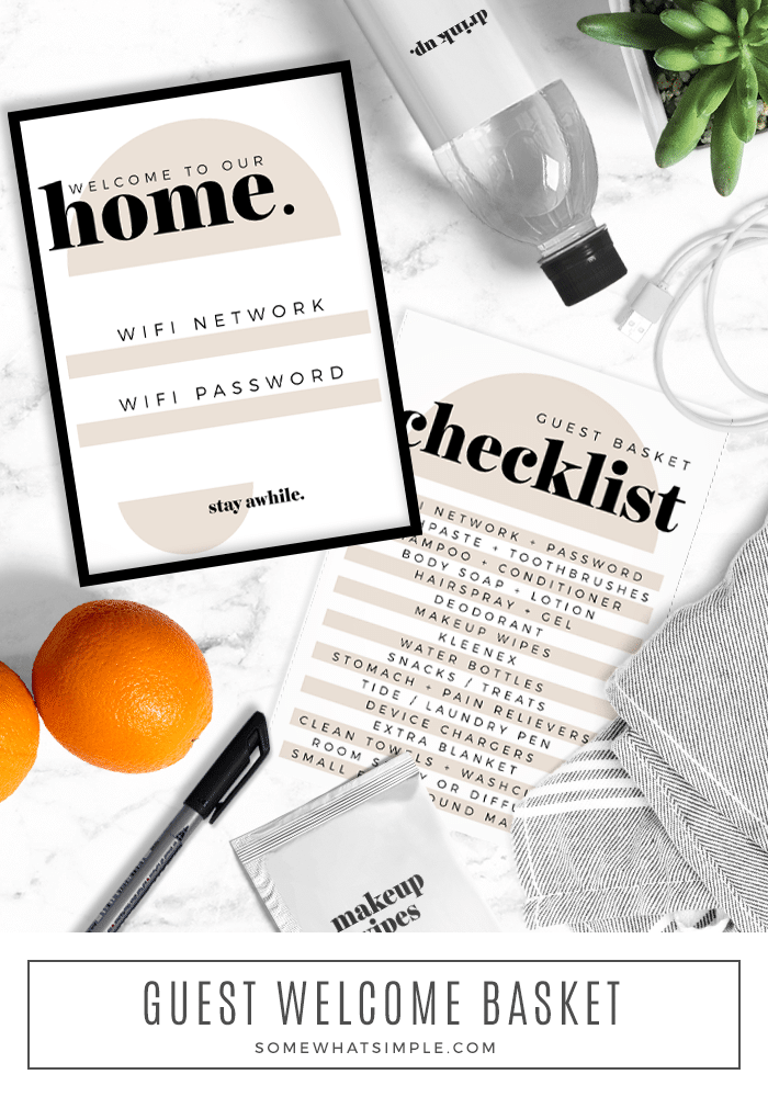 a printable checklist to get your house ready for guests