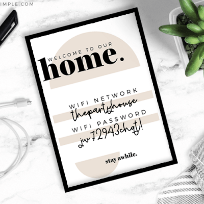 Guest Welcome Basket + Printables