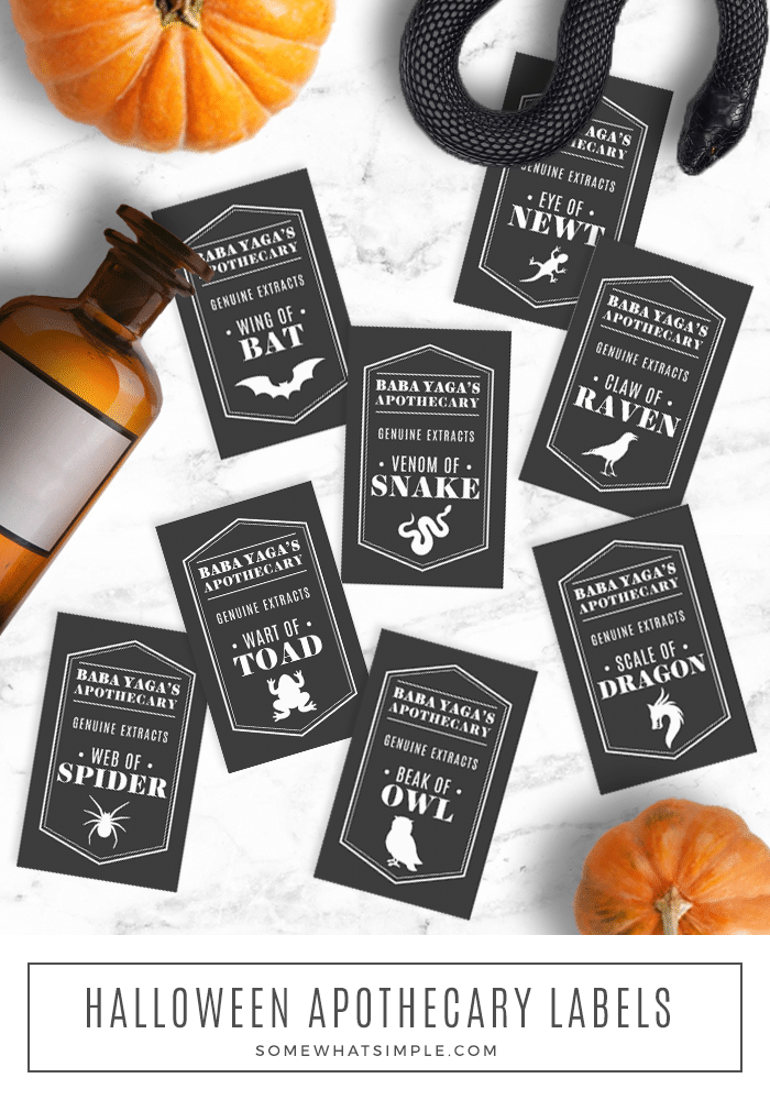 Halloween Apothecary Jar Labels Somewhat Simple Living