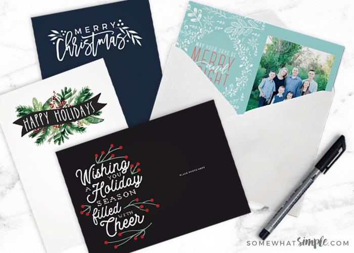 free Christmas card templates tutorial
