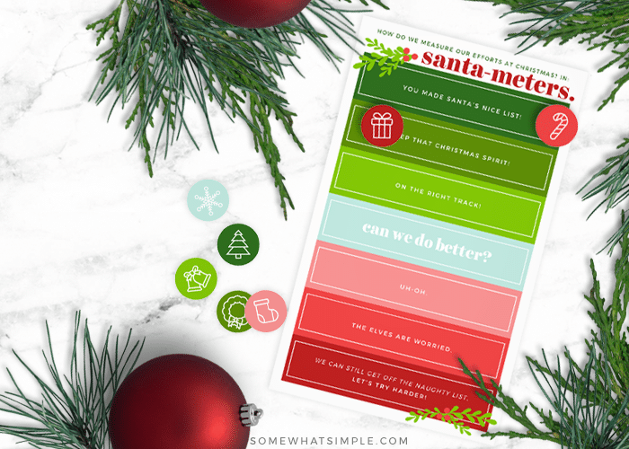 a simple behavior and incentive chart to use during the holidays