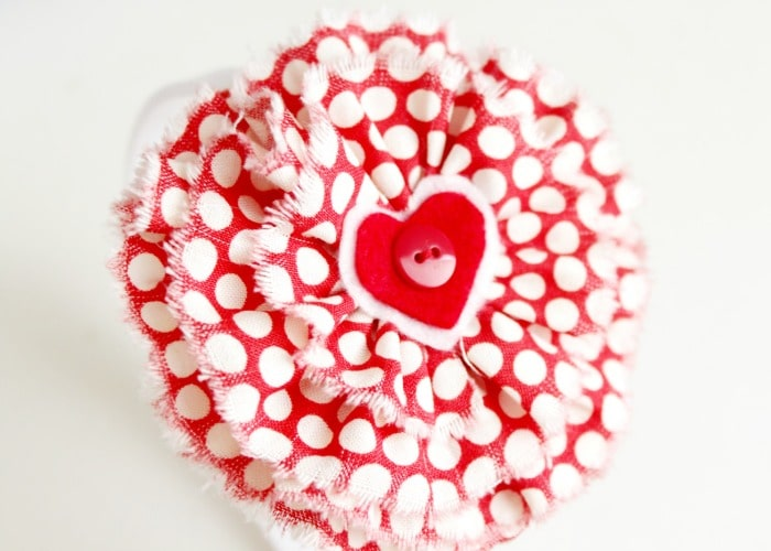 Easy Fabric Flowers + a Valentine's Day Headband Tutorial