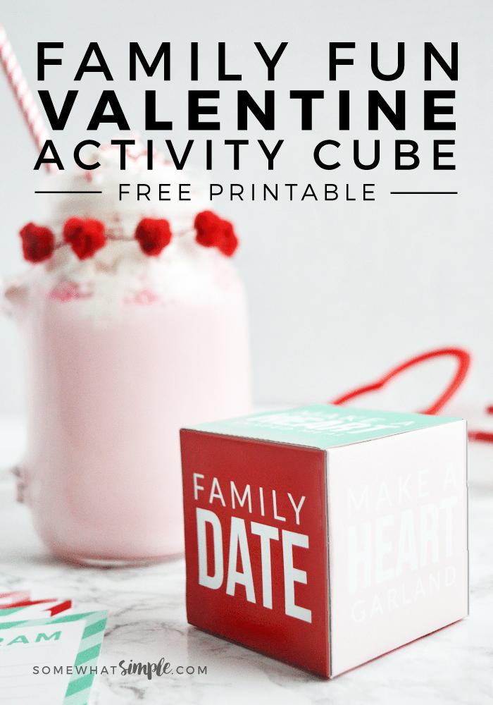 Valentines Activity Cube