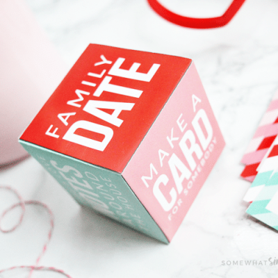 Valentine Activity Cube