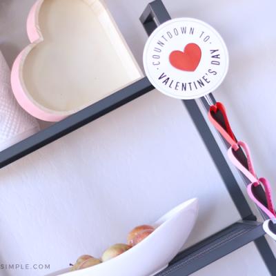 Heart Paper Chain Valentine Countdown