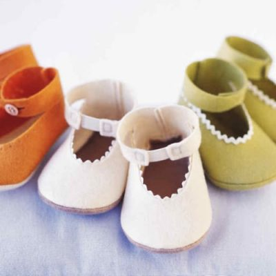 3 pairs of fabric baby shoes