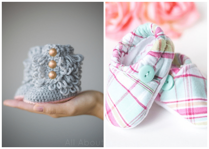 crocheted baby boots net to cloth baby shoes