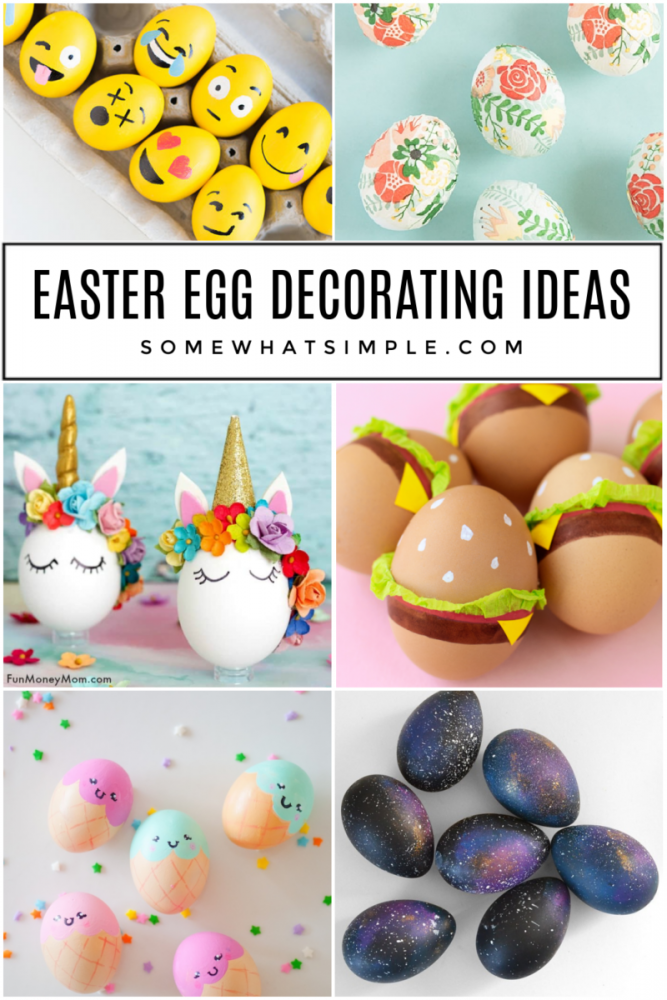 collage of decorated easter eggs