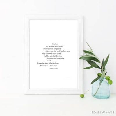 Easter Quote – Free Printable