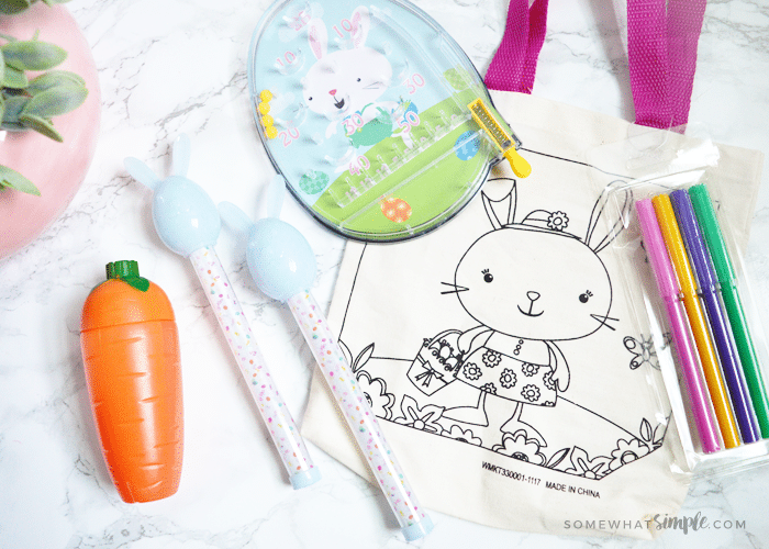 easter coloring pages and activities on a white counter