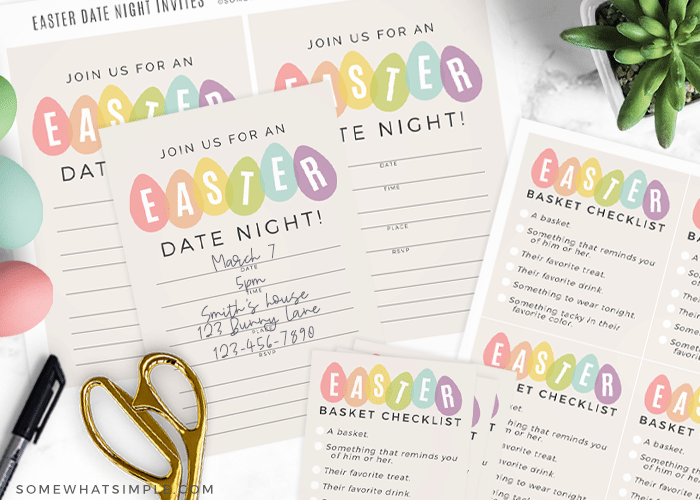 date night printables to fill an easter basket for adults