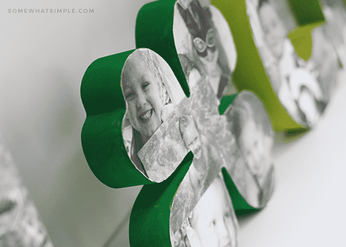 lucky wood letters st patricks day decoration keepsake photos pictures diy tutorial four leaf clover