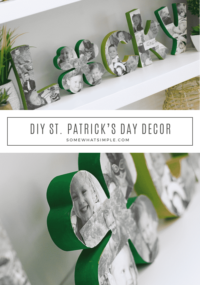 lucky wood letters st patricks patty's paddy's day decoration keepsake photos pictures diy tutorial green