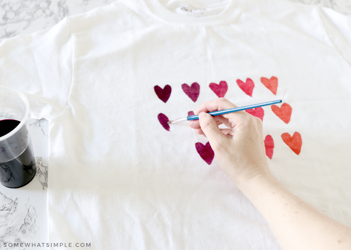 painting hearts on a t shirt