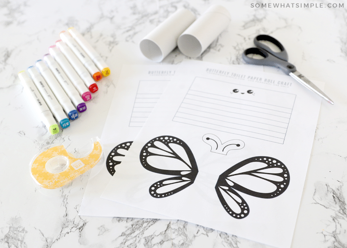 materials needed for a butterfly craft