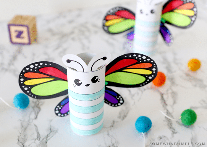 butterfly craft made of tp rolls