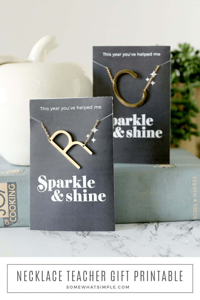 two personalized teacher gifts on the counter
