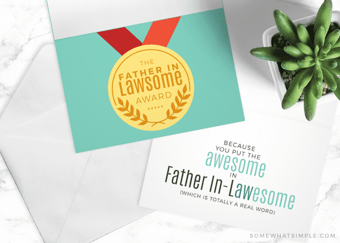 a father's day card for your father-in-law