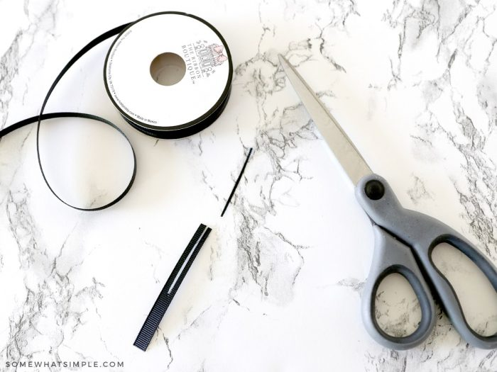 how to make antennae from black ribbon