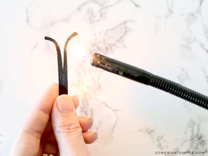 making antennae from black ribbon