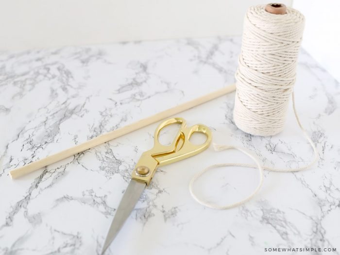 supplies needed for a bow holder