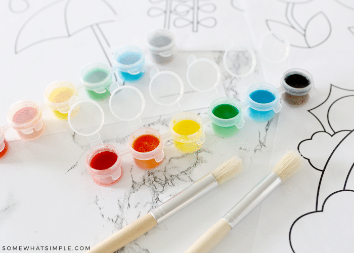 handmade watercolor paints on the counter